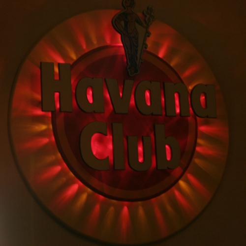 Barschild mit Beleuchtung, Logo-Schild